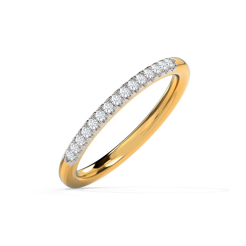 Diamond Rings 14 Karat Yellow Gold Glistening Classic Diamond Band