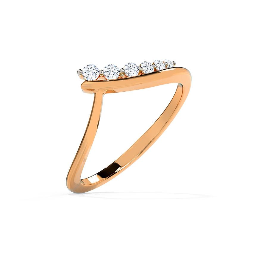 Diamond Rings 14 Karat Rose Gold Alison Diamond Ring