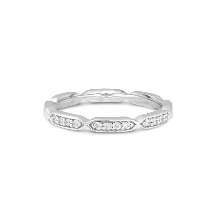 Diamond Rings 14 Karat White Gold Stellar Diamond Band