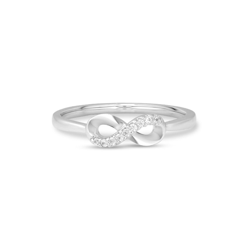 Diamond Rings 14 Karat White Gold Stellar Infinity Diamond Ring