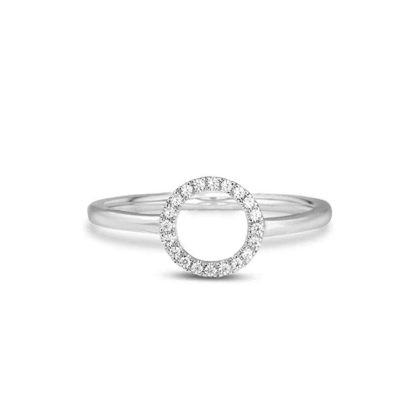 Diamond Rings 14 Karat White Gold Radiant Halo Diamond Ring