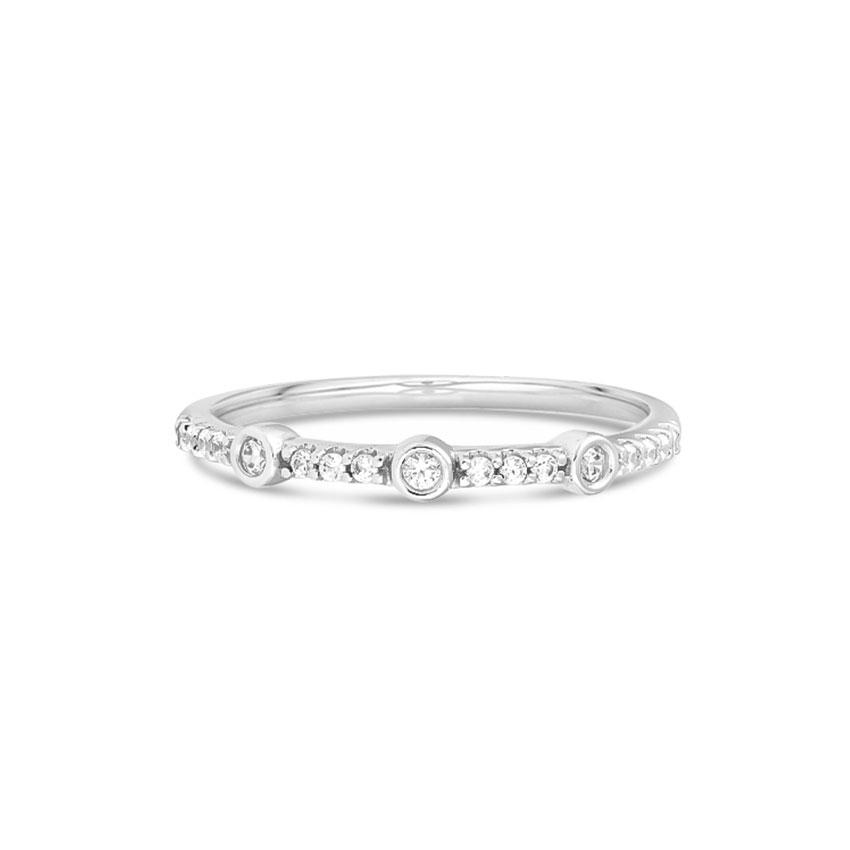 Diamond Rings 14 Karat White Gold Dressy Diamond Band