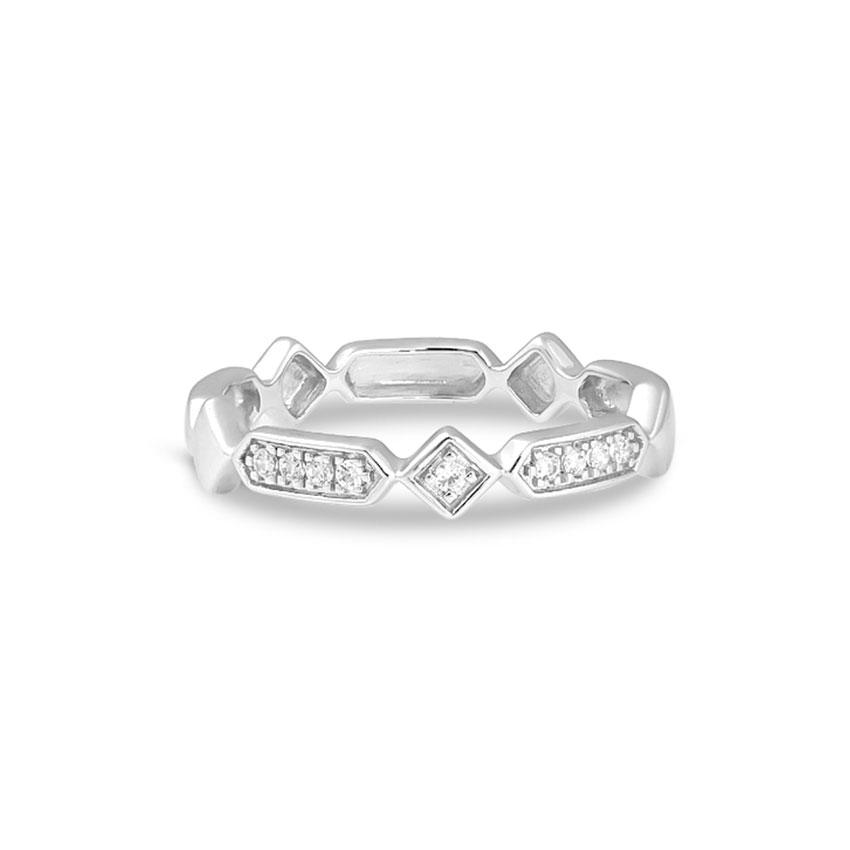 Diamond Rings 14 Karat White Gold Fancy Diamond Band