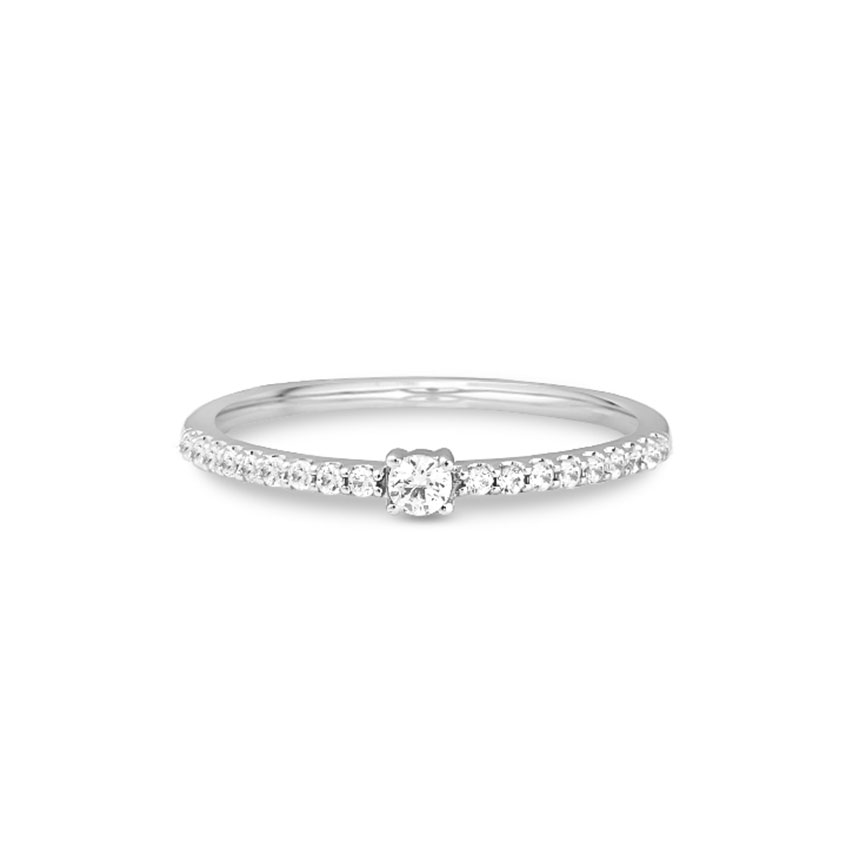 Diamond Rings 14 Karat White Gold Elle Elegant Diamond Band