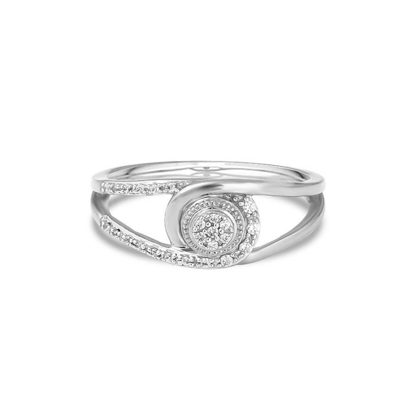Diamond Rings 14 Karat White Gold Majestic Interlinked Diamond Ring