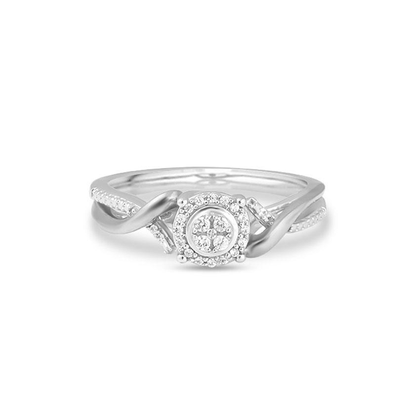 Diamond Rings 14 Karat White Gold Eline Flawless Diamond Ring