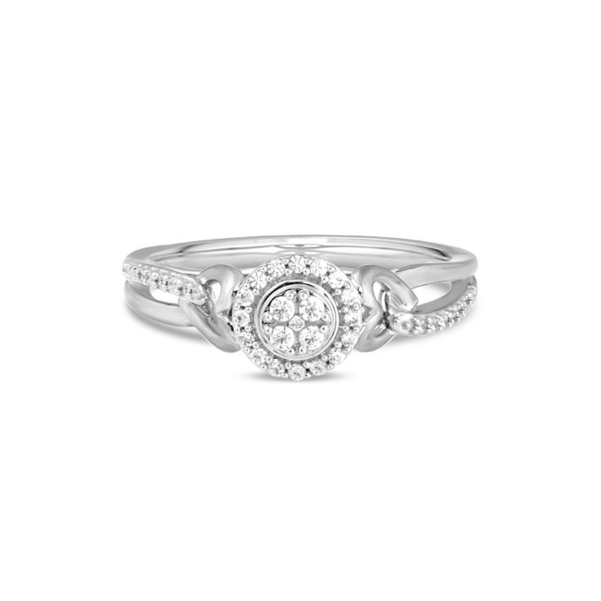 Diamond Rings 14 Karat White Gold Berta Graceful Diamond Ring