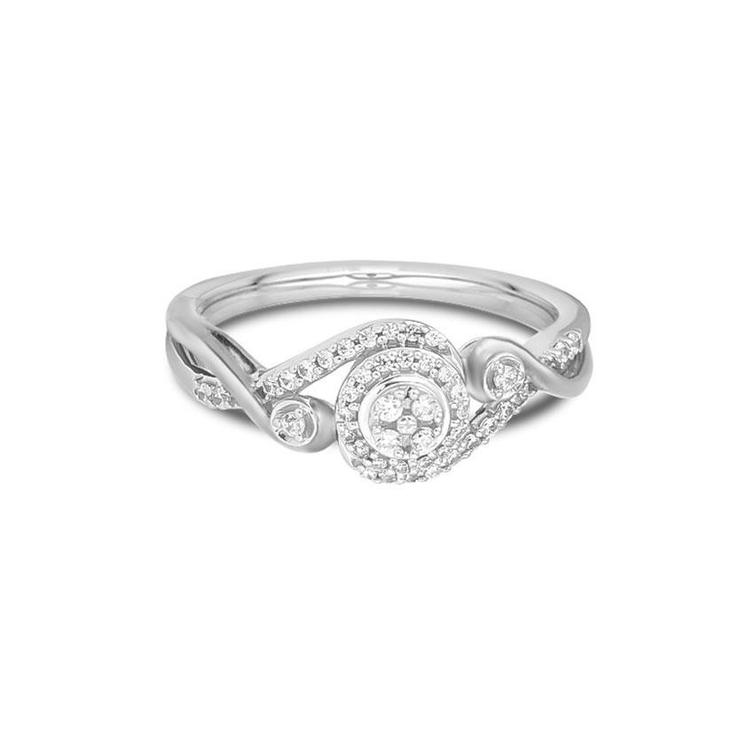 Diamond Rings 14 Karat White Gold Ele Fascinating Diamond Ring