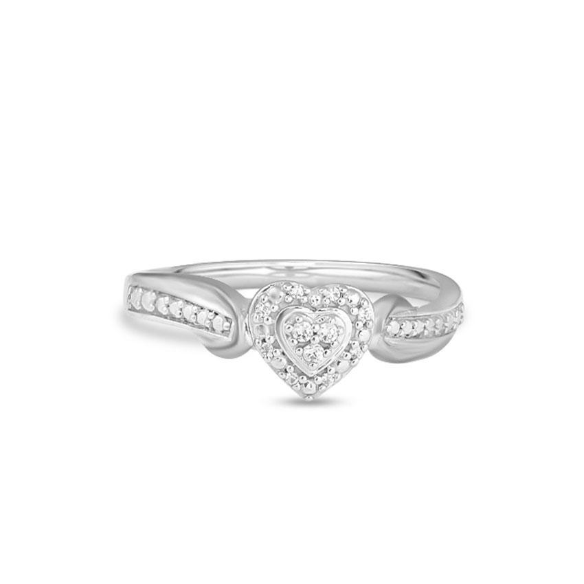 Diamond Rings 14 Karat White Gold Eleanor Glamorous Diamond Ring