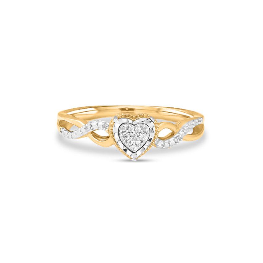 Diamond Rings 14 Karat Yellow Gold Fanny Heart Diamond Ring