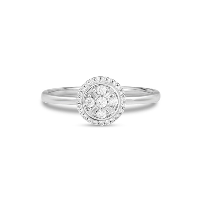 Diamond Rings 14 Karat White Gold Fortune Diamond Ring