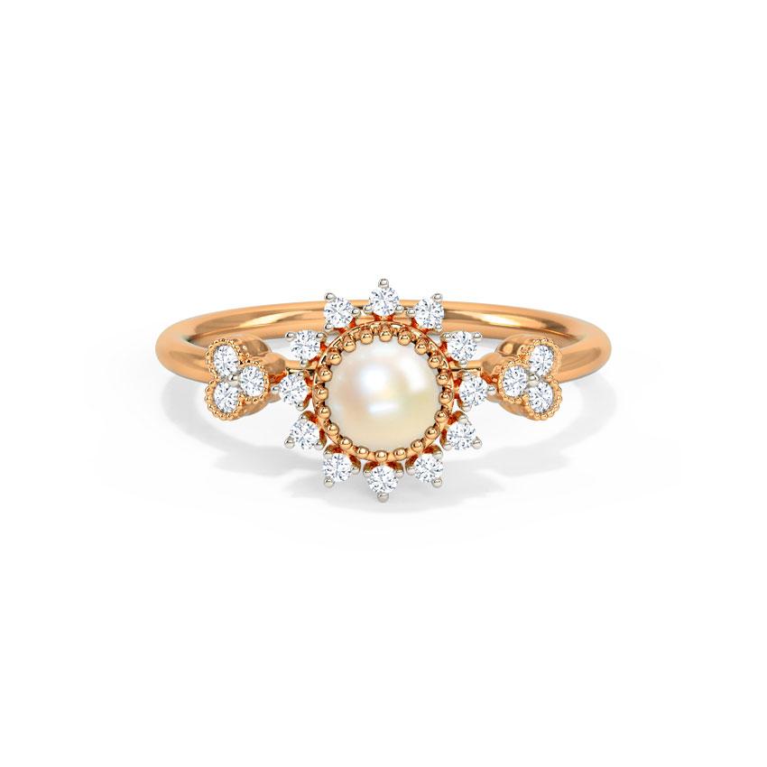 Diamond,Gemstone Rings 14 Karat Rose Gold Laira Gemstone Ring