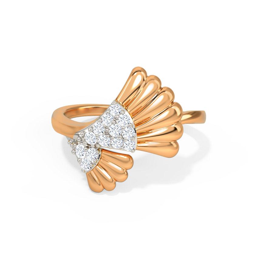 Diamond Rings 14 Karat Rose Gold Nylah Diamond Ring