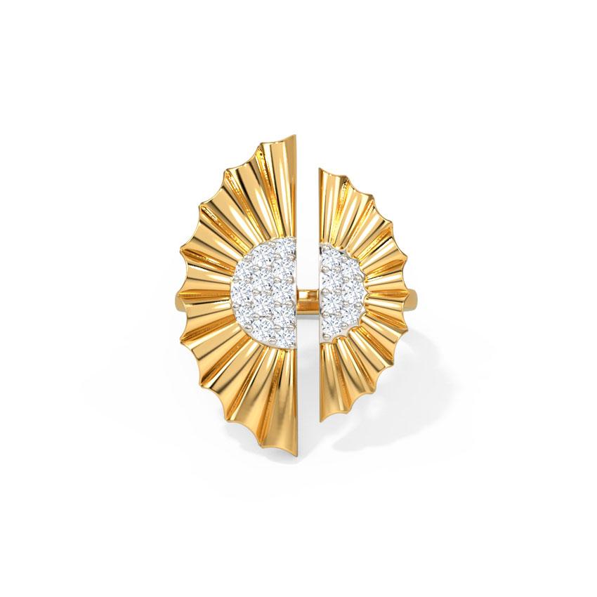 Diamond Rings 14 Karat Yellow Gold Alivia Diamond Ring