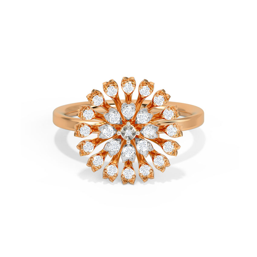 Diamond Rings 14 Karat Rose Gold Brees Diamond Ring