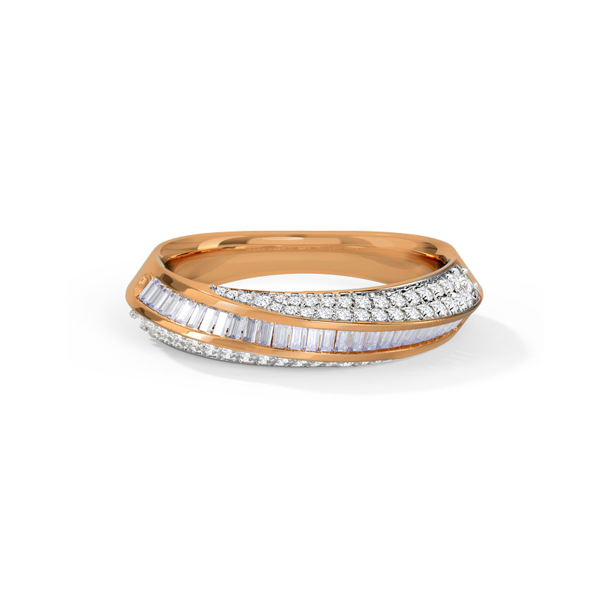 Diamond Rings 14 Karat Rose Gold Edra Diamond Ring