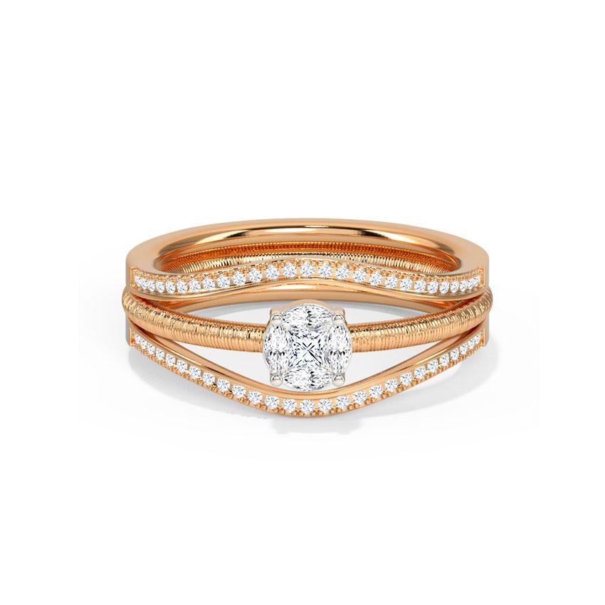 Diamond Rings 14 Karat Rose Gold Zanda Diamond Ring