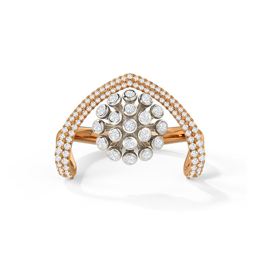 Diamond Rings 14 Karat Rose Gold Monroe Diamond Ring