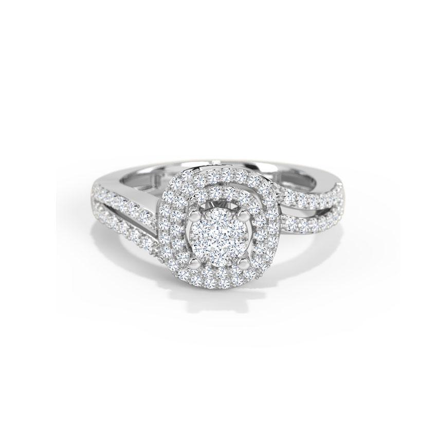 Diamond Rings 18 Karat White Gold Nasia Diamond Ring