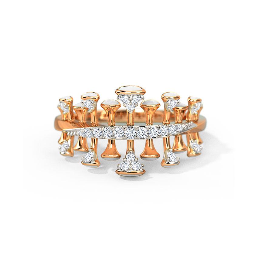 Diamond Rings 14 Karat Yellow Gold Eboni Diamond Ring