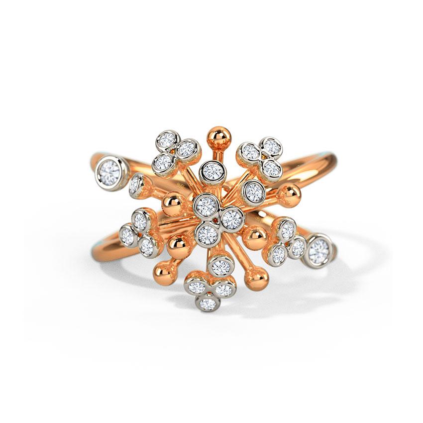 Diamond Rings 14 Karat Rose Gold Ebba Diamond Ring