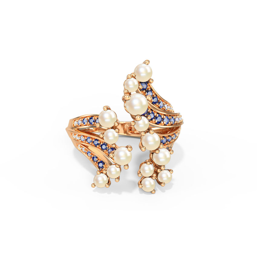 Diamond,Gemstone Rings 14 Karat Rose Gold Nerissa Splash Gemstone Ring