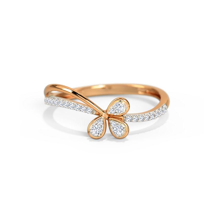 Diamond Rings 14 Karat Rose Gold Springtime Diamond Ring