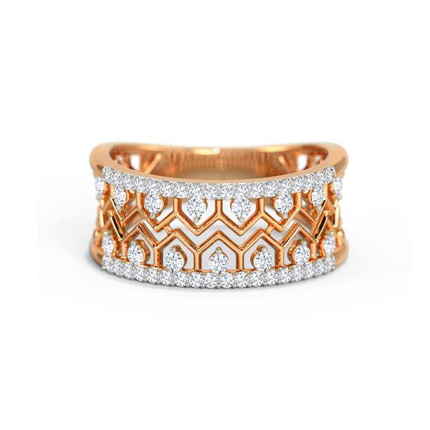 Diamond Rings 14 Karat Rose Gold Katharine Classic Diamond Band
