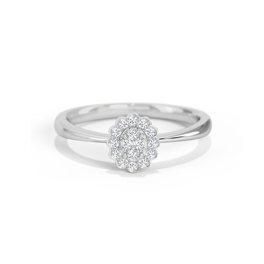 Diamond Rings 14 Karat White Gold Violet Diamond Ring