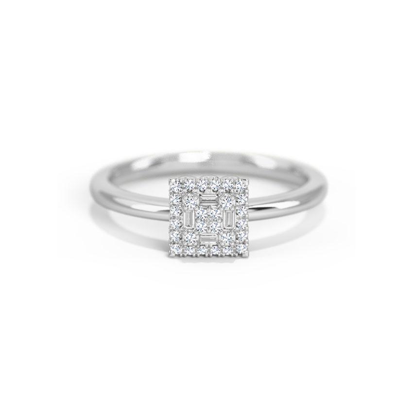 Diamond Rings 14 Karat White Gold Harper Diamond Ring