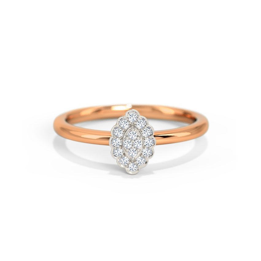 Diamond Rings 14 Karat Rose Gold Camila Diamond Ring