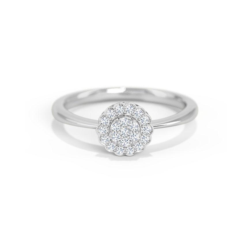 Diamond Rings 14 Karat White Gold Luna Diamond Ring