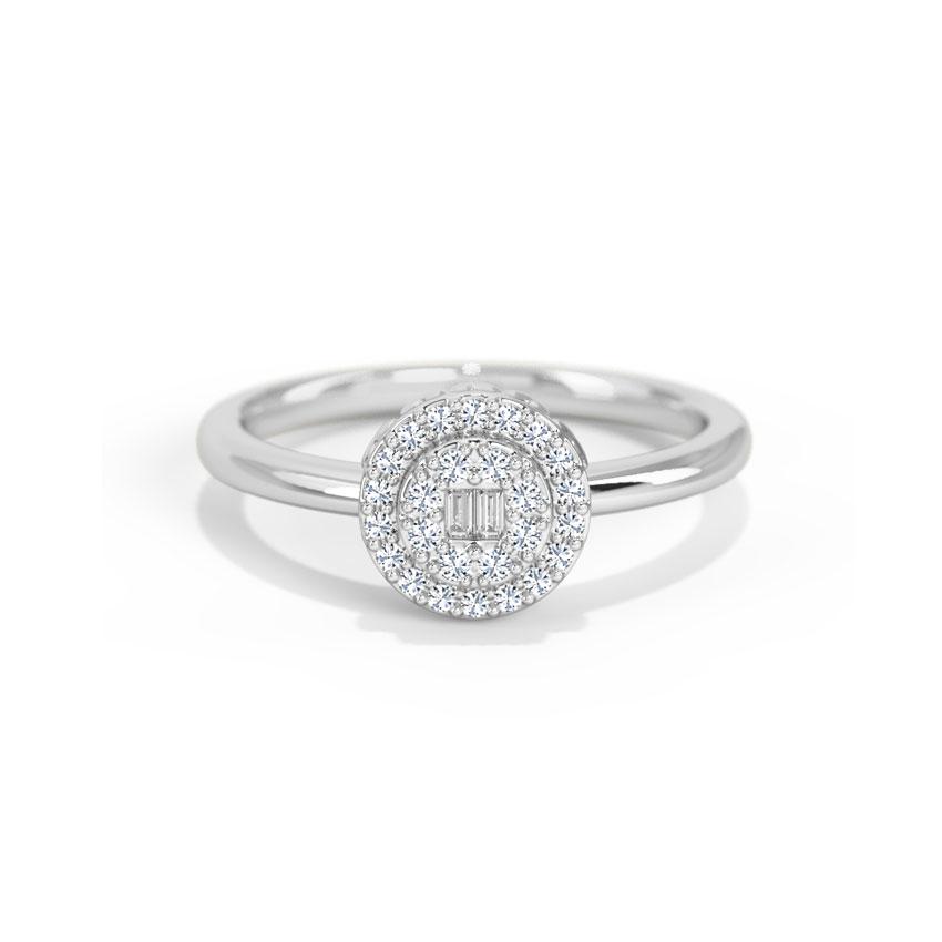 Diamond Rings 14 Karat White Gold Emilia Diamond Ring