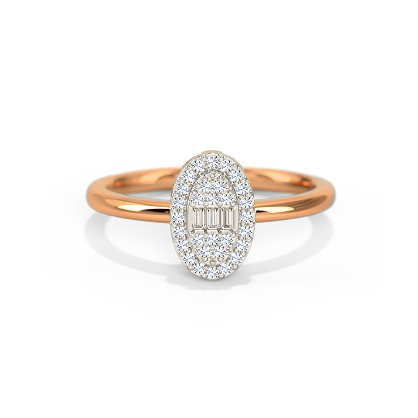 Diamond Rings 14 Karat Rose Gold Hazel Diamond Ring