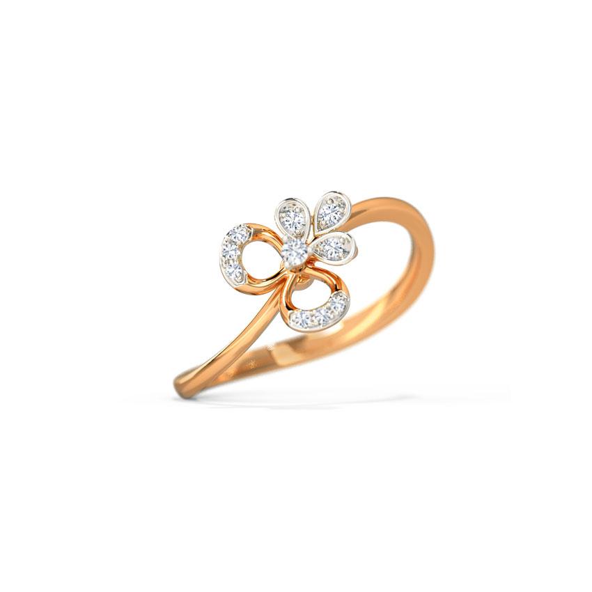 Diamond Rings 14 Karat Rose Gold Shanice Bloom Diamond Ring