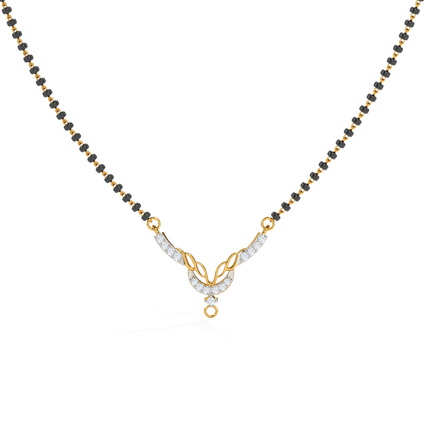 Diamond Mangalsutra 18 Karat Yellow Gold Shalini Diamond Mangalsutra