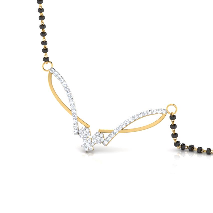 Diamond Mangalsutra 18 Karat Yellow Gold Vartika Diamond Mangalsutra