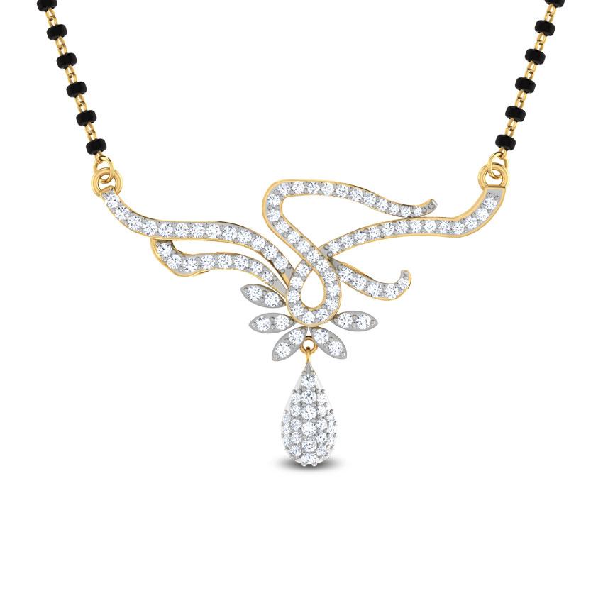 Diamond Mangalsutra 18 Karat Yellow Gold Soma Diamond Mangalsutra