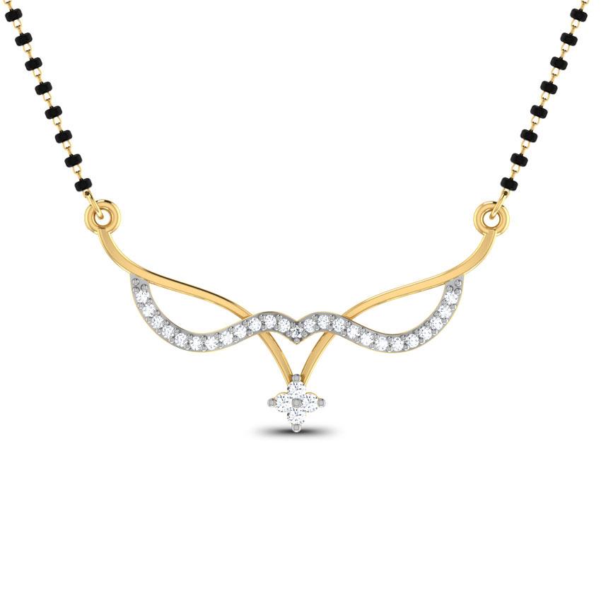 Diamond Mangalsutra 18 Karat Yellow Gold Tivra Diamond Mangalsutra