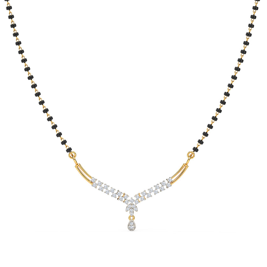 Diamond Mangalsutra 18 Karat Yellow Gold Tanya Diamond Mangalsutra