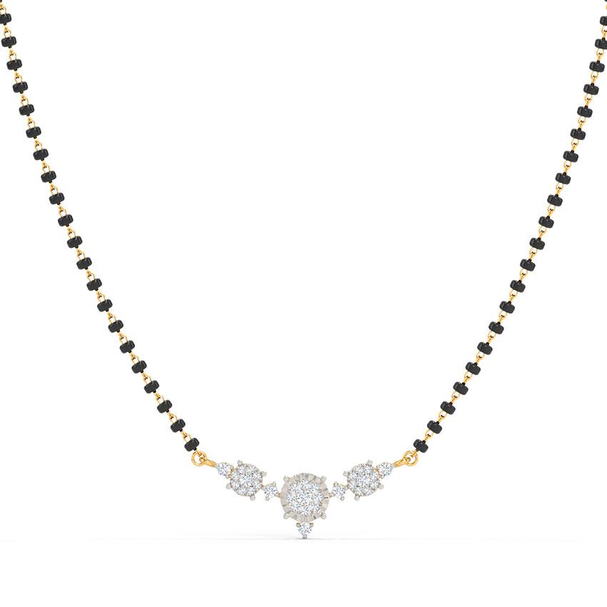 Vritika Miracle Plate Diamond Mangalsutra