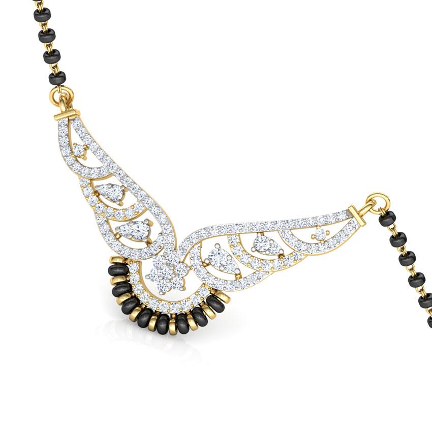 Diamond Mangalsutra 18 Karat Yellow Gold Indu Diamond Mangalsutra