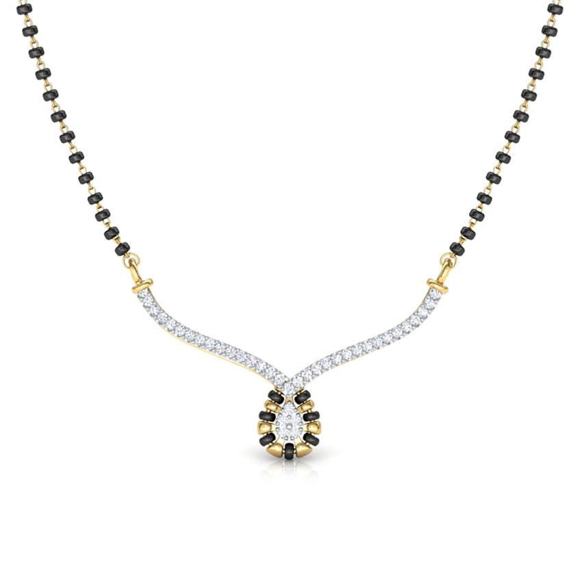 Diamond Mangalsutra 18 Karat Yellow Gold Ishita Diamond Mangalsutra