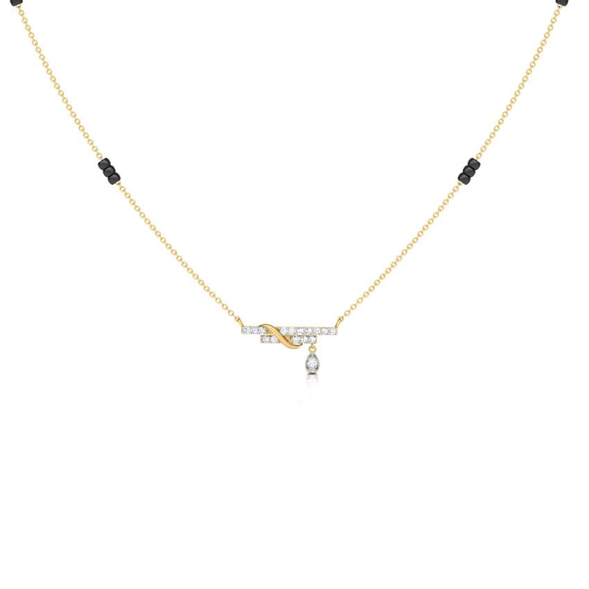 Diamond Mangalsutra 18 Karat Yellow Gold Ishya Diamond Mangalsutra