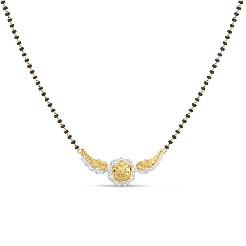 Diamond Mangalsutra 18 Karat Yellow Gold Piya Diamond Mangalsutra