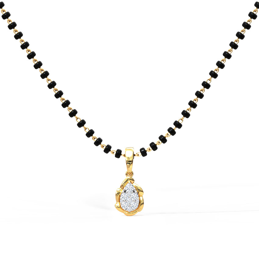 Diamond Mangalsutra 14 Karat Yellow Gold Anushree Diamond Mangalsutra