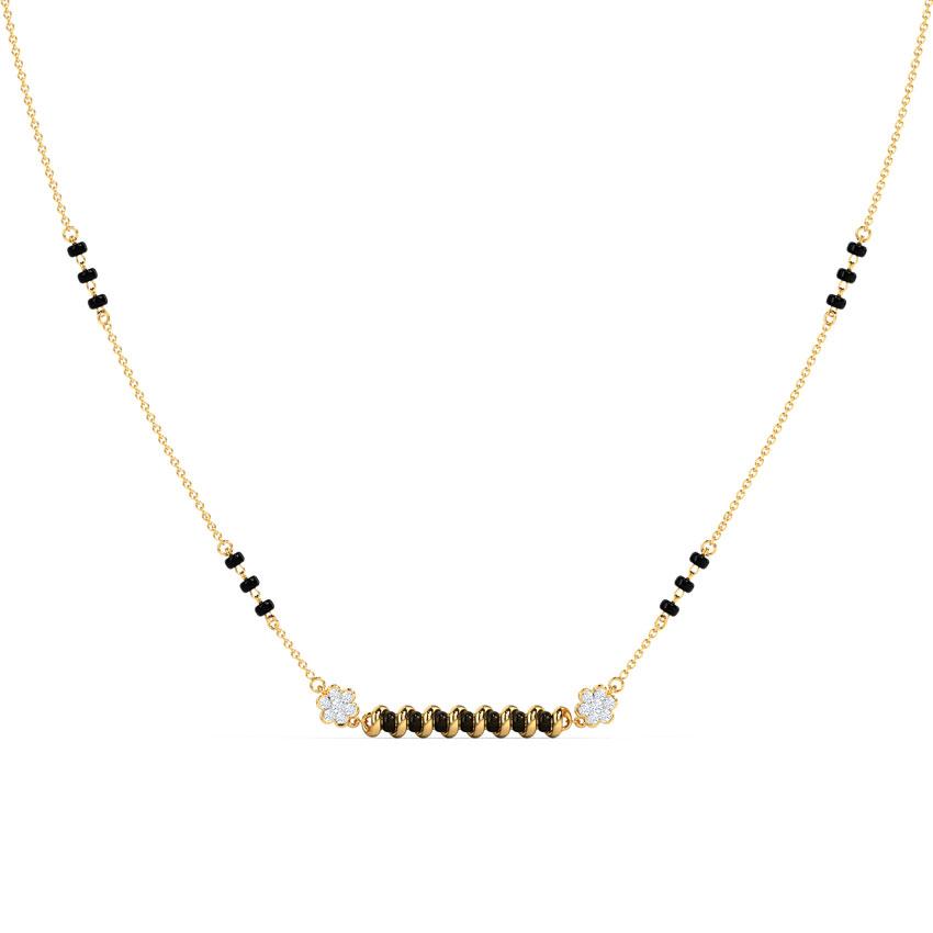 Diamond Mangalsutra 14 Karat Yellow Gold Nia Diamond Mangalsutra