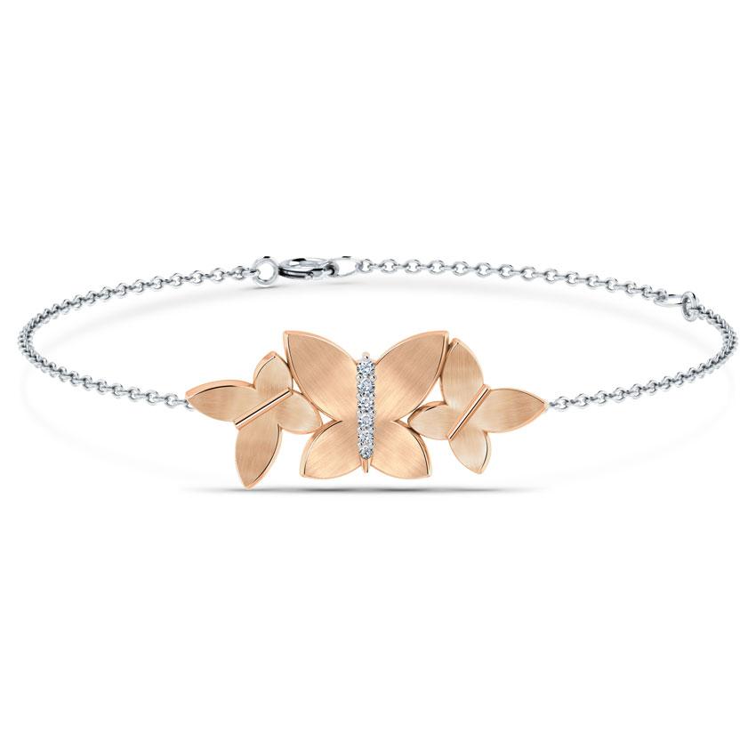 Rosy Butterfly Bracelet