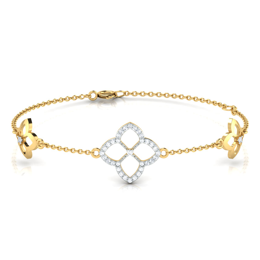 Diamond Bracelets 18 Karat Yellow Gold Art Deco Diamond Bracelet