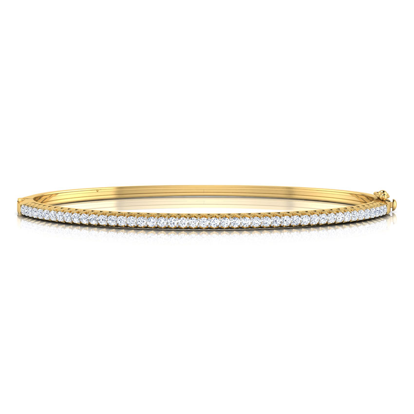 Diamond Bracelets 18 Karat Yellow Gold Shimmer Diamond Bracelet